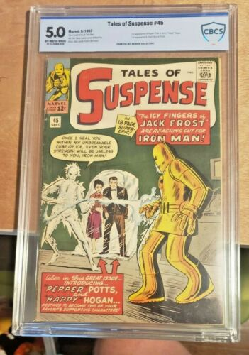Tales of Suspense #45 CBCS 5.0 Iron Man 1st appearance Happy Hogan, Pepper Potts
