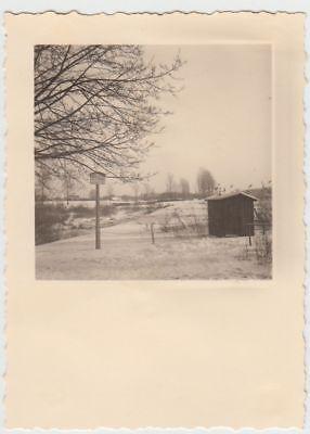Foto-bug ((F21907) Orig. Foto Bug (Bamberg), Winterpartie am Wehr 1939)