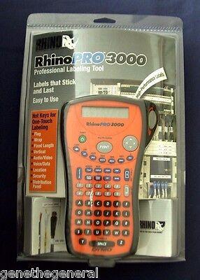 New Dymo Rhino Pro 3000 Thermal Hi-performance Label Maker Printer 15605