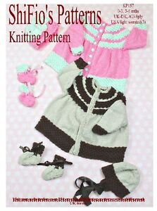 KNITTING PATTERN for BABY GIRL BOY MATINEE JACKET, HAT & BOOTIES #157