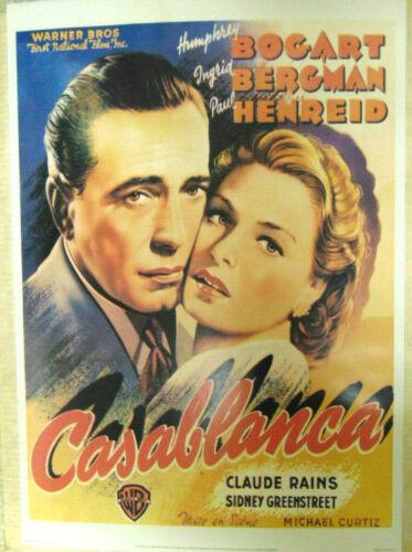 "CASABLANCA Movie Poster 1984 Edition 20x28"" Humphrey Bogart Ingrid Bergman"