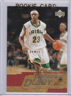 LEBRON JAMES ROOKIE CARD Irish High School Jersey RC Basketball CLEVELAND CAVS!