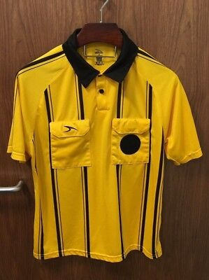 8e9c7be1c Soccer Referee Shirt - Yellow Black - Men s Medium - Score Pro Elite 2025