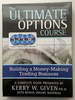 New  The Ultimate Options Course By Kerry Given  4 Dvd   Online Course Material