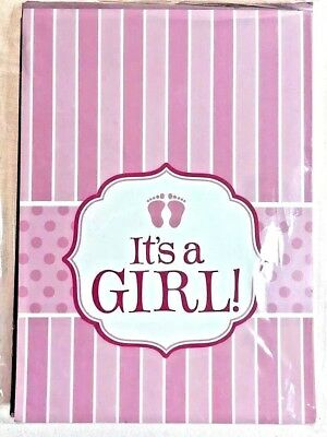 Pink Baby Shower Invitations (Its a Girl Baby Shower / Baby Welcoming Invitations & Envelopes Pink)