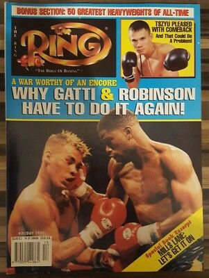 RING MAGAZINE: 1998 Holiday (Gatti & Robinson front cover), fine/clean!