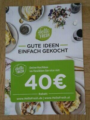 Hello Fresh Gutschein 40,- Euro Rabatt
