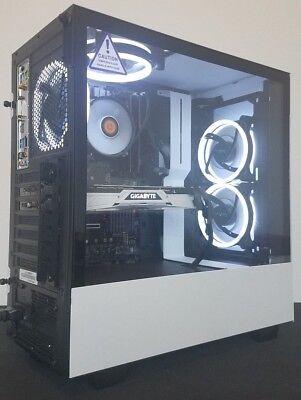 NZXT Gaming PC i7 8700k 4.7Ghz Turbo RTX 2070 500GB SSD Custom Computer Desktop
