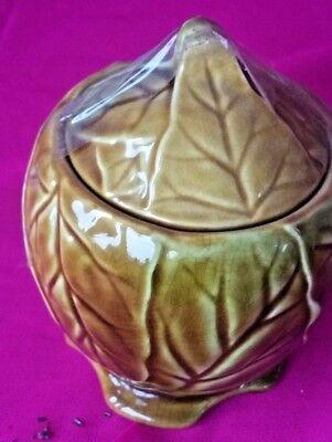 Vintage Royal Winton cabbage pot with lid for honey mustard sugar jam preserves