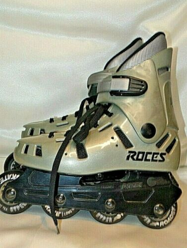 Roces Ladies Inline Skates Size 8 LAX Vintage Gray Hyper Roadskate Wheels
