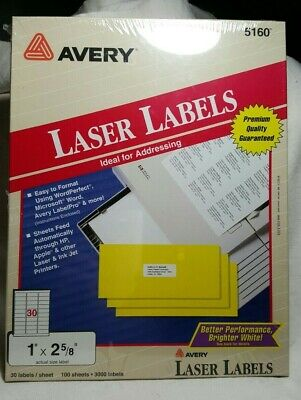 Avery 3600 Ct Laser Labels 5160 Address Labels New Sealed