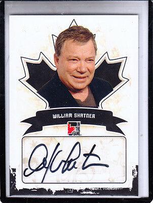 2011 In The Game Canadiana William Shatner Star Trek Captain Kirk Autograph Auto