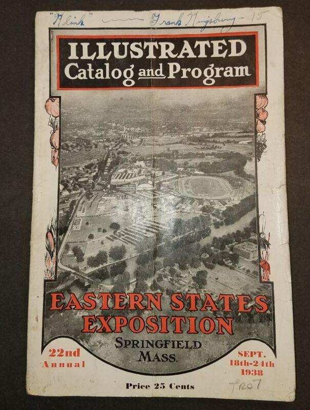 1938 Eastern States Exposition Illustrated Catalog & Program Springfield Mass