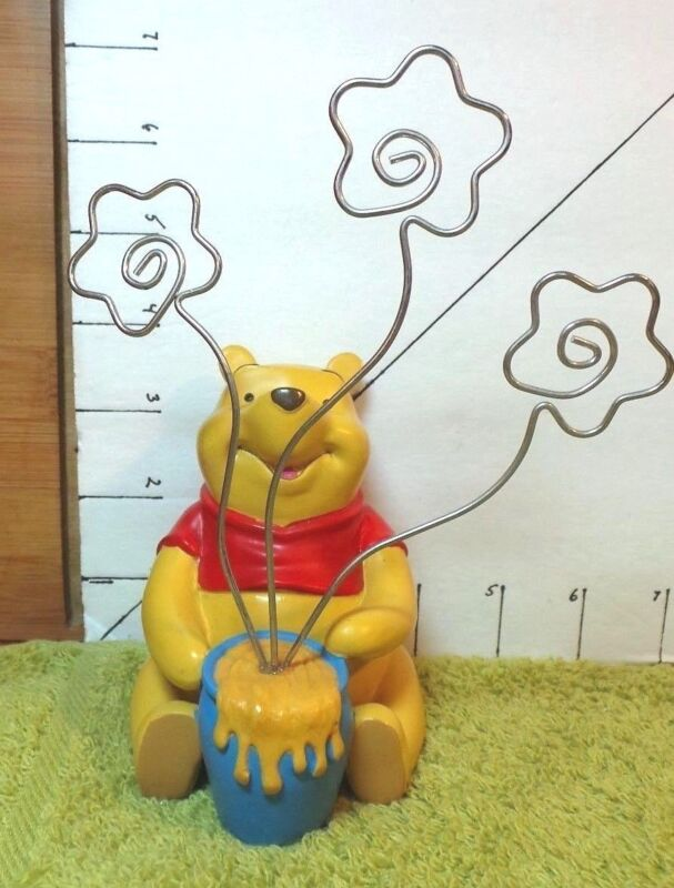 Disney, Pooh,With Honey Pot Photo or Business Card Holder,Collectible Disney