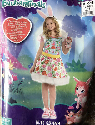 NWT Enchantimals Bree Bunny HALLOWEEN COSTUME 3-4 Toddler