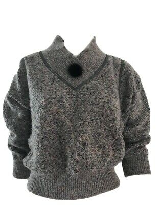 80s Sweatshirts, Sweaters, Vests | Women Authentic Vintage 1980's Slouch Jumper With Pom Pom $25.99 AT vintagedancer.com