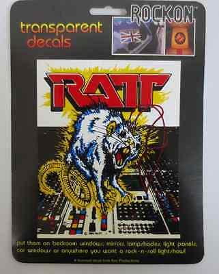 RATT ROCK ON DECAL CAR WINDOW MIRROR DECALS ROCK & ROLL KEY PRODUCTIONS CELLAR