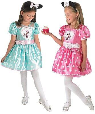 Mädchen Deluxe Disney Cupcake Minnie Maus Büchertag Kostüm Kleid (Mädchen Cupcake Kostüme)