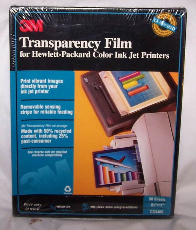 3M Transparency - HP Ink Jet, CG3460, 49 sheets