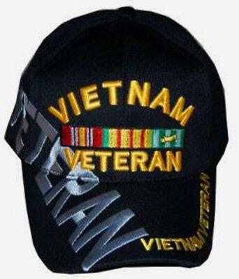 Vietnam Veteran hat ballcap cap black osfa army marine navy military
