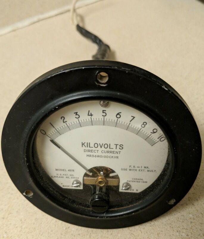Vintage HICKOK 46R 0-10kV DC Volt Meter Panel Mount Analog 4226-29 - WORKS!