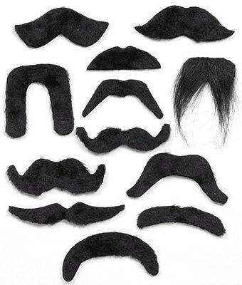 Black Moustache Mexican Bandit Wing Commander Pirate 20s 70s Vicar Biker - Black Bandit Kostüm