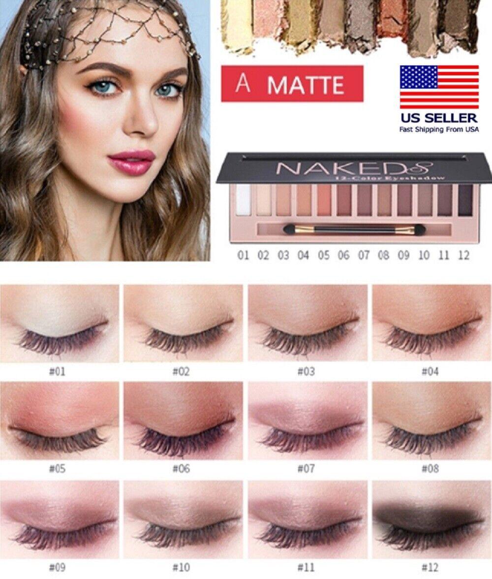 12 Colors Shimmer Or Matte Eyeshadow Makeup Palette Long Lasting Eye Shadow US Eye Shadow