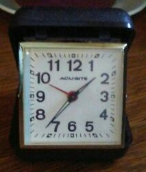 Vintage AcuRite Traveling Wind-up Alarm Clock