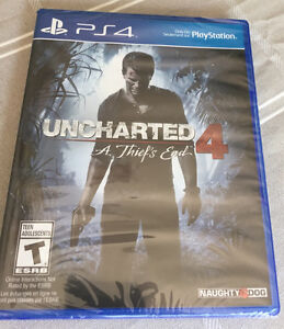 PS4 GAME - UNCHARTED 4 : A Thief's End ( sealed)
