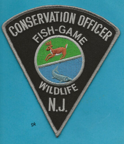 NEW JERSEY FISH GAME WILDLIFE CONSERVATION OFFICER POLICE SHOULDER PATCH