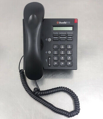 Shoretel 115 Black Ip Phone With Stands Lan Business Handsets