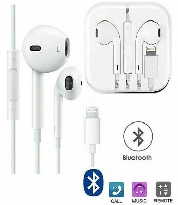 For Apple iPhone XS, X, 8 Plus, 8, 7 Plus, 7, lightning EarPhones with Bluetooth
