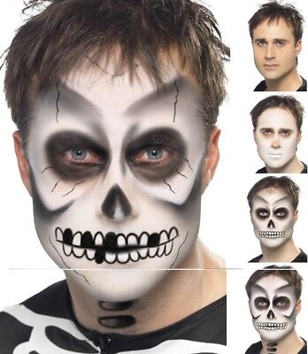 Halloween Kostüme Skelett-make-up (Skelett Make Up Kit Fx Ghost Gesichtsfarbe Halloween Kostüm Schminke Neu)