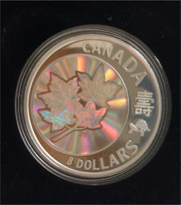 2007 Royal Canadian Mint $8 Maple of Long Life Coin