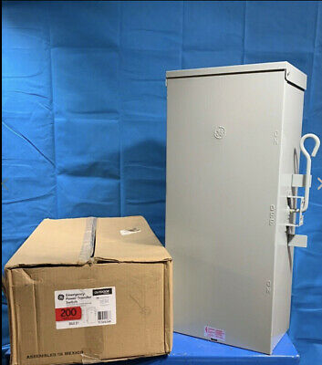 Ge 200 Amp Manual Emergency Power Transfer Switch 240v Double Throw Tc10324r2p