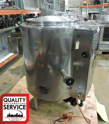 Groen Ah1e-20 Commercial 20 Gal Stationary 23 Steam-jacketed Gas Kettle