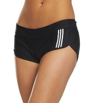ADIDAS WOMENS SPORTS SWIM SHORTS BLACK (Ladies Sports Swimwear)