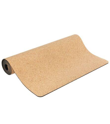 NEW Non-Slip Cork Yoga Mat 3.5mm, 70x25 inch Antimicrobial Light