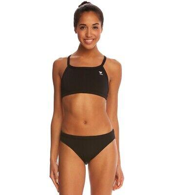 Tyr Women's Durafast Elite Solid Workout Bikini Two Piece Swimwear Sz. S (Two Piece Workout Swimsuit)