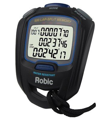 Robic SC-757 STOPWATCH 500 Dual Memory Three Line Display Countdown Timer