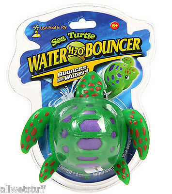 Sea Turtle Water Ball Bouncer Kid Children Swim Pool Beach Game Like a Waboba