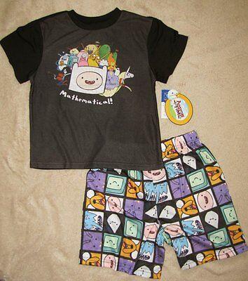 Adventure Time Jake Pajamas (ADVENTURE TIME *Jake & Finn* Mathematical!* 2pc S/S Shirt Pajamas Pjs sz)