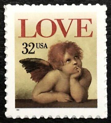 1996 Scott #3030 - 32¢ - LOVE, CHERUB - Booklet Single Mint (Lovely Single)