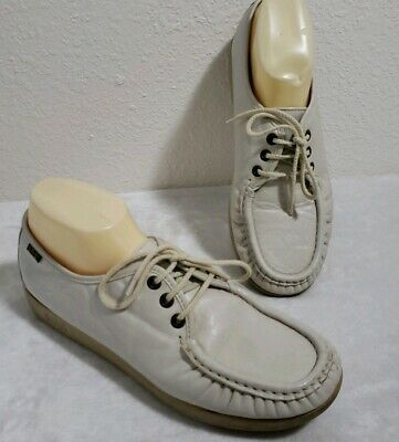 SAS Hand Sewn Beige Leather Lace Up Oxford Shoes Women's Size 11 Wide *EUC* (Hand Sewn Oxford)