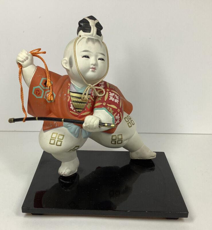 Vintage Japanese Hakata Doll Kabuki/Samurai Boy