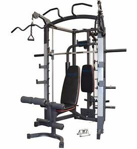 Smith Machine Linear bearing Home Gym + Bench & attachments NEW Malaga Swan Area Preview