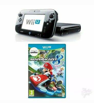Nintendo Wii U 32 GB Black Console + Mario Kart 8. Factory reset. ONE YEAR...