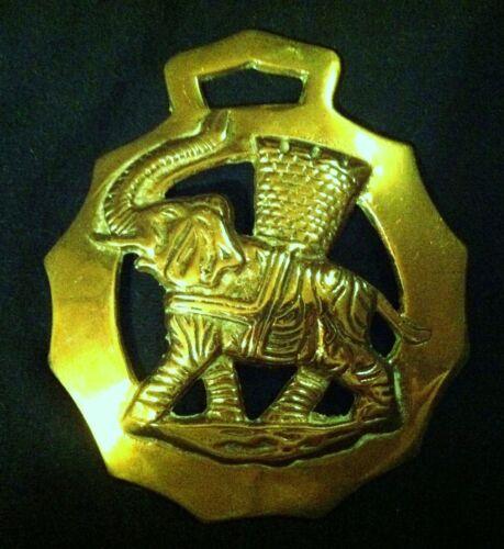 OVERSIZED ELEPHANT Horse Harness Brass England Elephant GIFT!! WOW YOUR WALLS!
