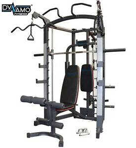 Smith Machine Linear bearing Multi-function + Bench & attachments Malaga Swan Area Preview