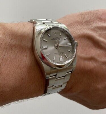 Rolex Oyster Perpetual 36-mm Ref. 116000 Silver Dial 2015 Mint Complete Papers